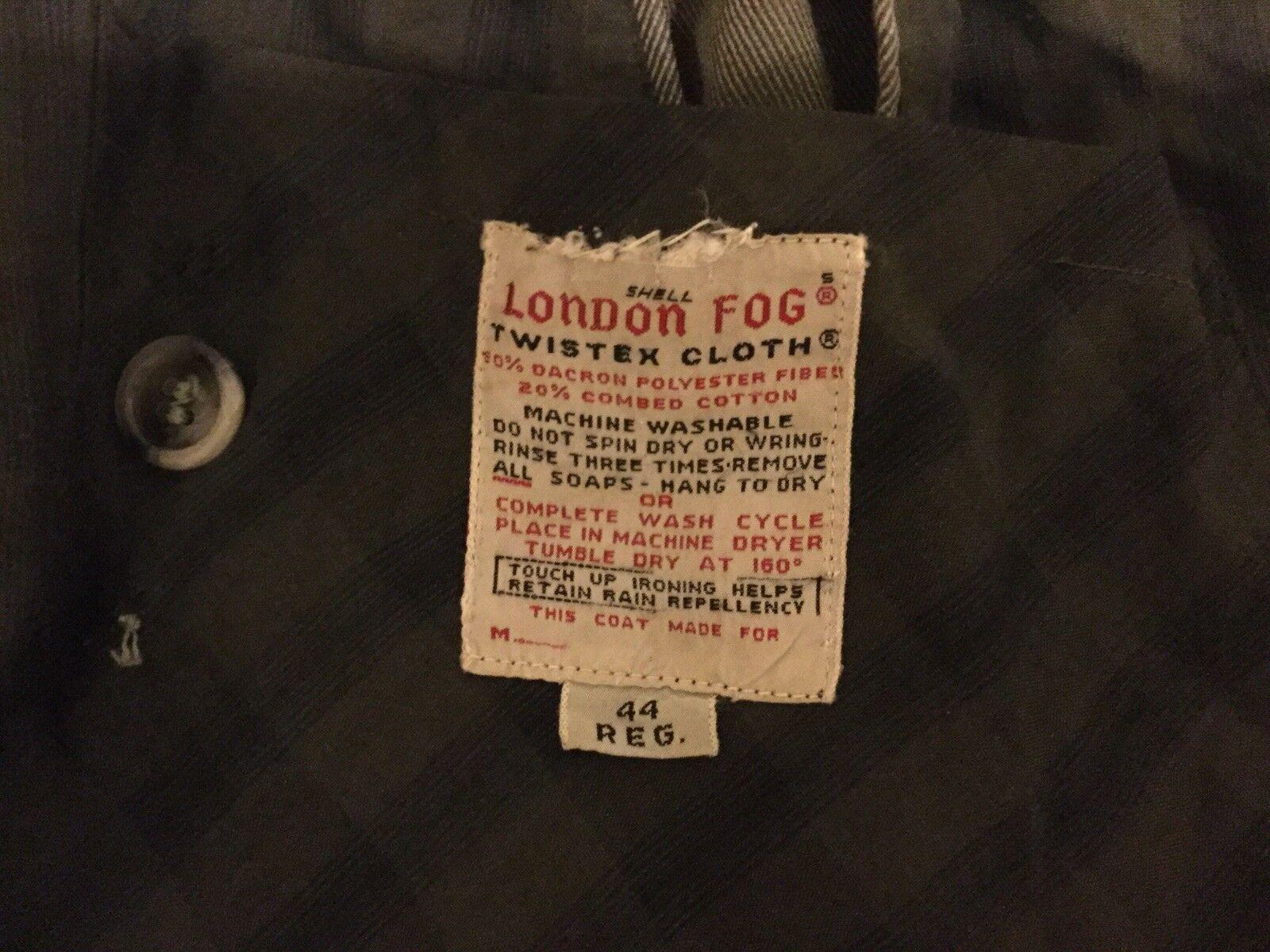 Vintage excellent état utilisé LONDON FOG Beige Bouton TWISTEX hommeteau avec motif écossais Liner & Cape Manteau Poches