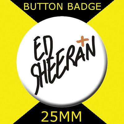 ED SHEERAN FACE HI 25MM BUTTON BADGE WITH D PIN