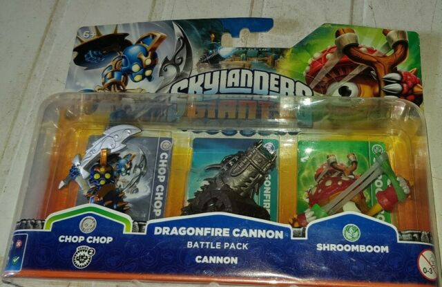 Skylanders Giants, Battle Pack - Chop Chop Dragonfire Cannon, Shroomboom - New