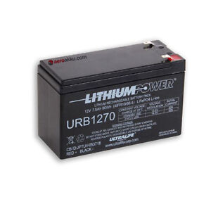 Ultralife urb1270 LiFePO 4 Batterie 12 V 7,5ah avec BMS Taille que PB 7ah 8ah 9ah  </span>
