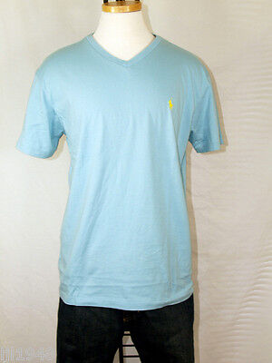 Polo Ralph Lauren V-Neck Lake House Blue T-shirt Polo Pony M L XL XXL NWT