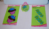 Creatology Emery Boards & Ring Michaels 3pks 5 Items Total Cupcakes Candy 31q