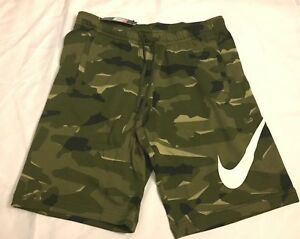 bed51bd2806 Mens Nike Camo Shorts French Terry Camouflage AQ0602 325 Size S M L ...