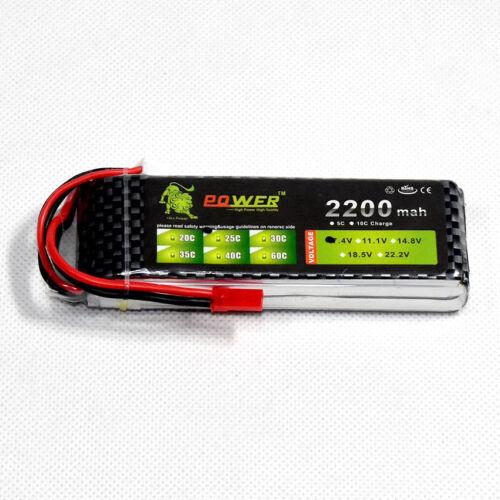 7.4V//2S 2200mAh 25C LiPo Battery JST plug Burst 50C RC model Lipolymer power