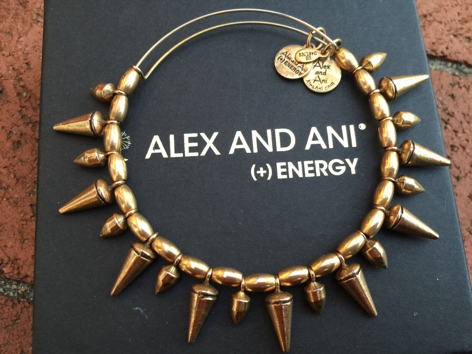 RARE ALEX and ANI RUSSIAN gold SPIKE of COURAGE Beaded Wrap BRACELET