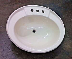 "Oval Sink 16"" x 20"" x 7"" w/ Drain & Stopper Bathroom RV Marine Mobile Home"