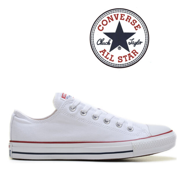 52eace514362 Mens Converse Chuck Taylor All Star Low Top Canvas Fashion Sneaker Optical  White