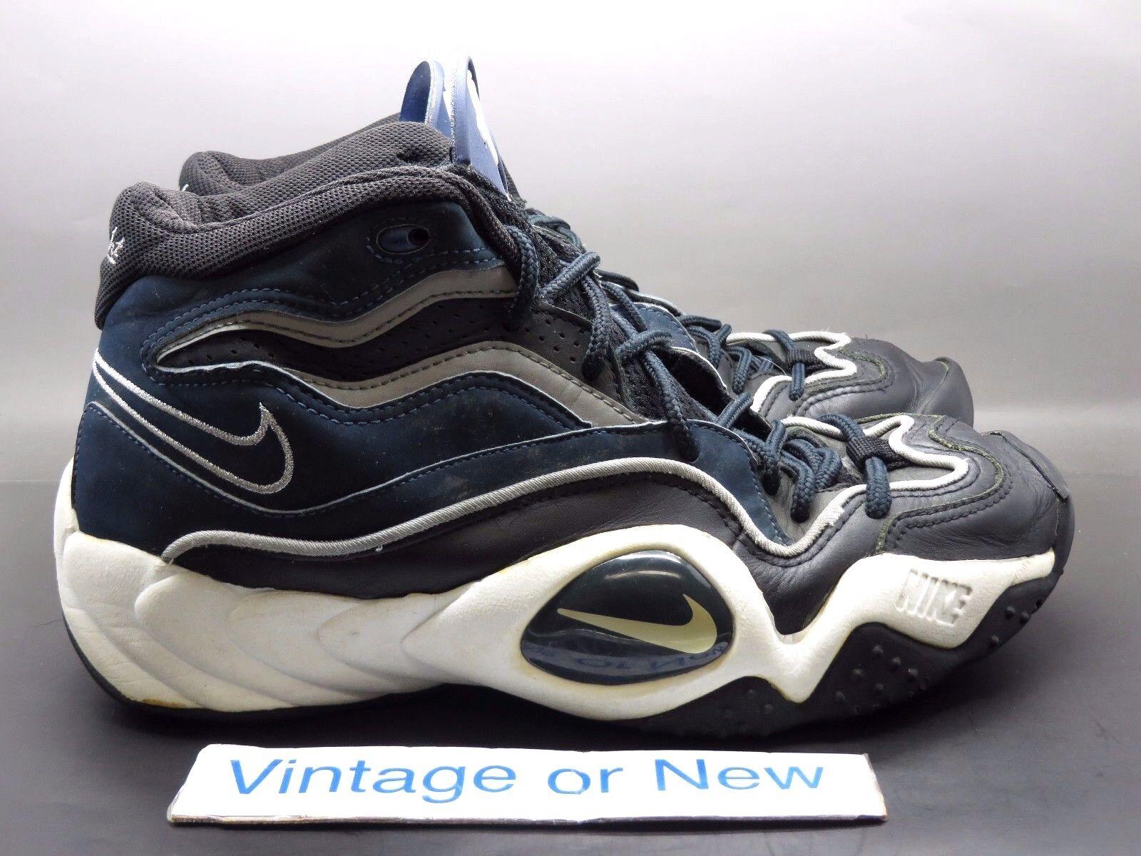 VTG OG Nike Air Flight Turbulence Navy Black Silver White 1996 sz 10.5