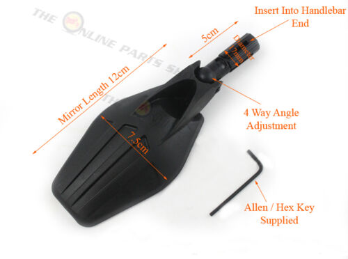 Bicycle Handlebar Wing Rear View Mirror Quality Folding for Bike Universal Fit