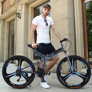 """Mountain Bike Full Suspension Shimano 21 Speed Mens Bikes MTB 26"""" Bicycle USA"""