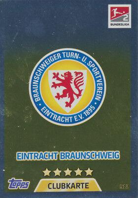 Bundesliga Match Attax Extra 17//18-512 Club Card-Eintracht Braunschweig 2