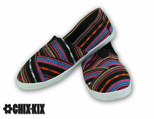 womens stripes canvas shoes slip ons casual sneakers kicks