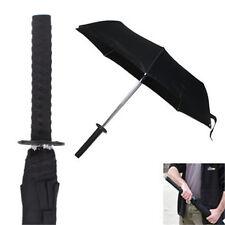 Japanese Samurai Sword Tanto Handle Sun Rain Compact Folding Umbrella