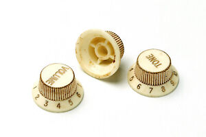 Aged 62 Strat Knob Set Colormatched from Montreux Retrovibe fit Stratocaster ®