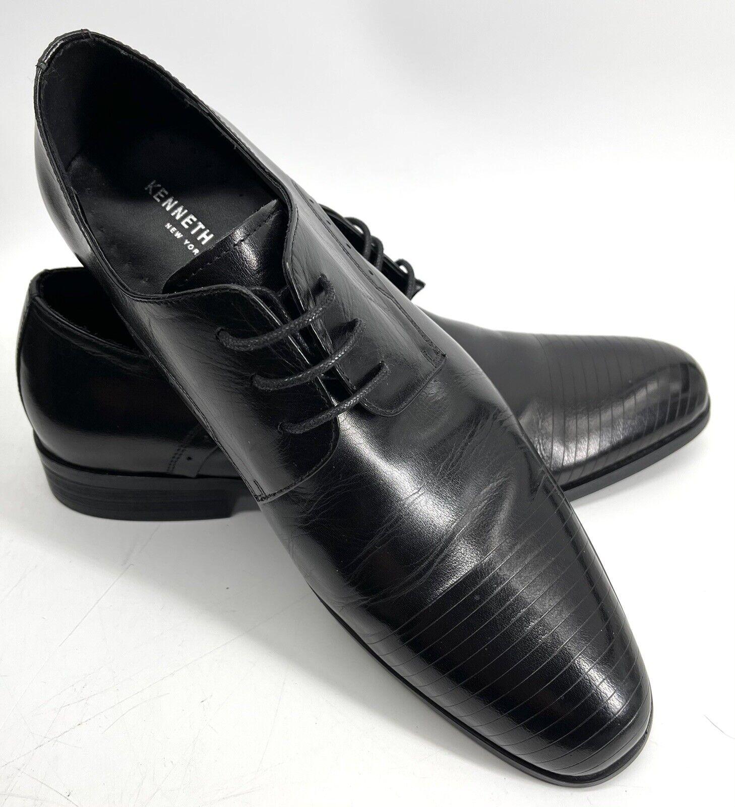 Kenneth Cole Reaction Straight Line Leather Dress Shoe Men's Size 7.5 Black EUC