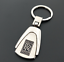 Metal Key Chain Car Logo Pendant Keyfob Holder Silver Key Ring For Rolls-Royce