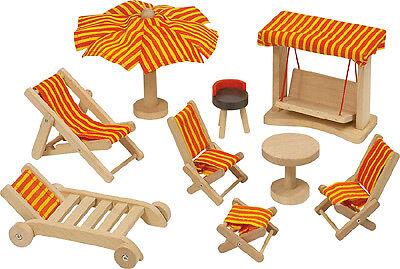 Goki casa delle bambole mobili per il giardino mobili casa casa casa delle bambole mobili da giardino sedia sdraio NUOVO 73df35