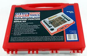 Puncture-Repair-Tyre-Kit-Temporary-Emergency-Fix-Tubeless-Plug-Sealey-TST10