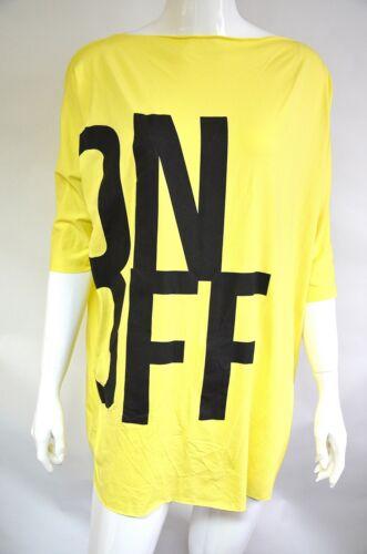 Mode Femme Tunique Manches Mi-Longues Imprimé On Off CAD36 T-Shirt Long