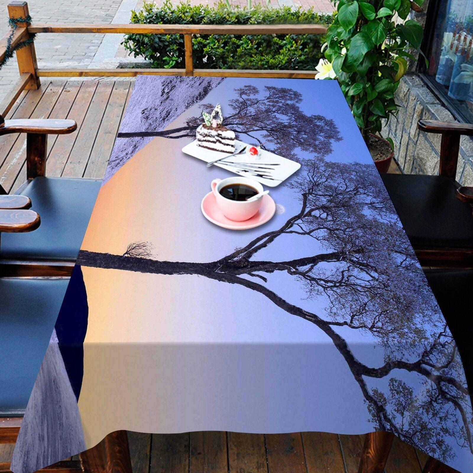 3D Tree Night Tablecloth Table Cover Cloth Birthday Party AJ WALLPAPER UK Lemon