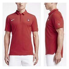 Nike Roger Federer Olympia 16 Rio Polo XL Tennis Nadal Swiss Trikot Shirt Rot RF