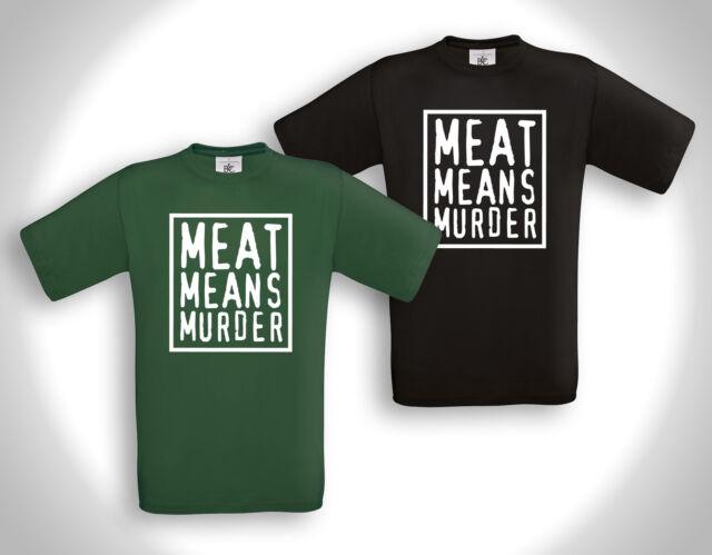 Vegan Vegetarian Meat Free PETA Tierschutz HC Girlie Shirt MEAT MEANS MURDER 3