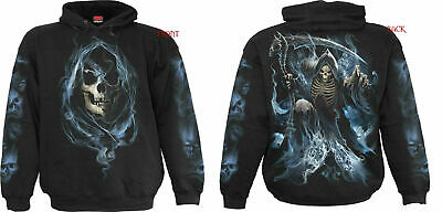 Spiral Direct SYMPHONY OF DEATH Hooded,Heavy Metal//Biker//Reaper//Skull//Music//Hood