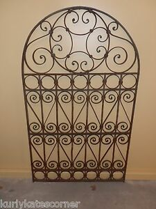 ornate wrought iron gate. image is loading 60034ornateoldworldarchedtopwrought ornate wrought iron gate