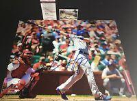 Ian Happ Chicago Cubs Autographed Signed 16x20 Photo JSA WITNESS COA Debut
