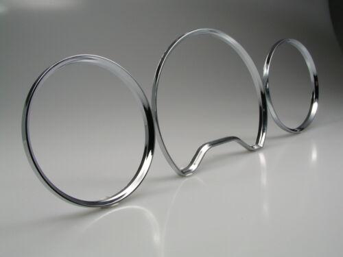 Pour Mercedes w202 202 compteur de vitesse anneaux dans Chrome Snap dans clipsen