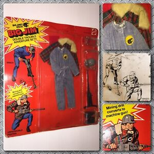 VTG-70s-Mattel-Big-Jim-Double-Trouble-Commander-Leader-doll-Jims-Wolf-Pack-SET