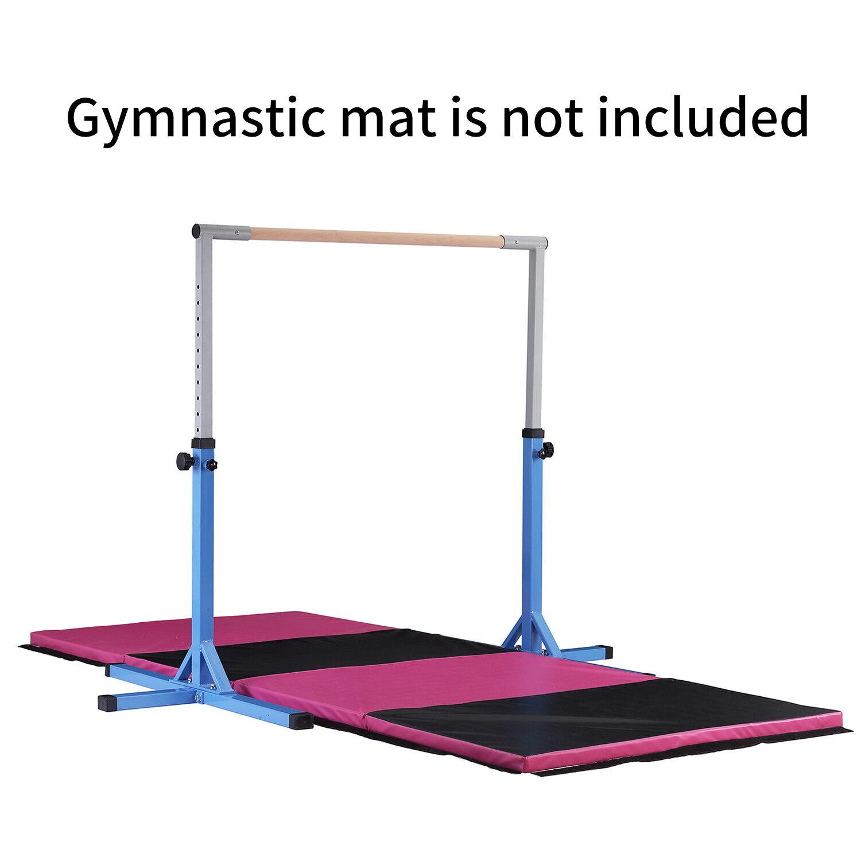 blueee Gymnastics Training Horizontal Bar Sports  Equipment Home Kids Adjustable  fast shipping to you