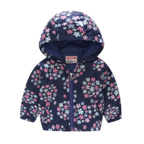 Girls Kids Toddler Baby Floral Hooded Coat Jacket Winter Clothes Outfits Outwear