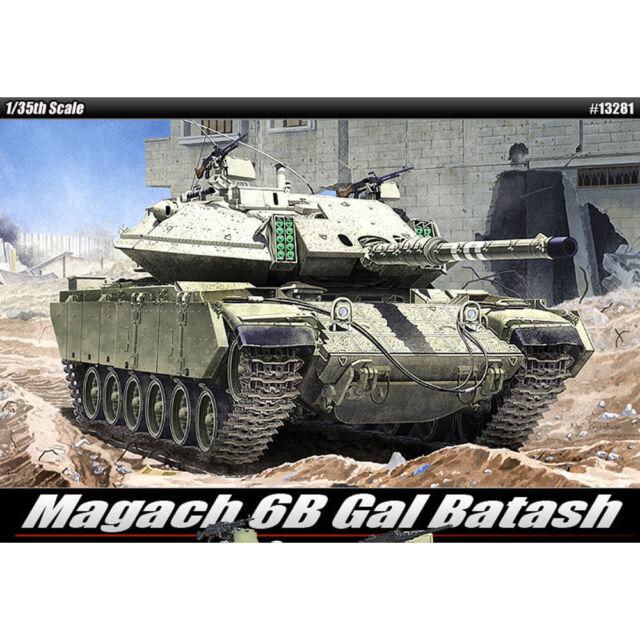 ACADEMY #13281 1/35 Plastic Model Kit Magach 6B Gal Batash IDF Tank