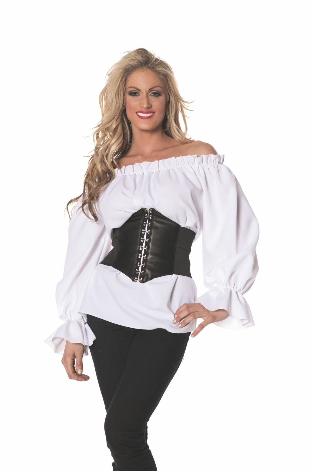 Renaissance Long Sleeve Shirt Pirate Steampunk Adult Womens Halloween Costume