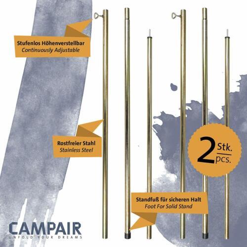 CampAir 2er Aufstellstange für Tarps Vorzelte Sonnensegel Zelte Tarp Pole Sehr G