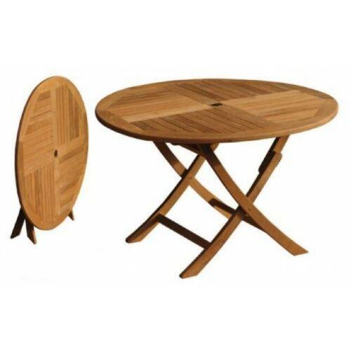 1m Circular Folding Teak Garden Table