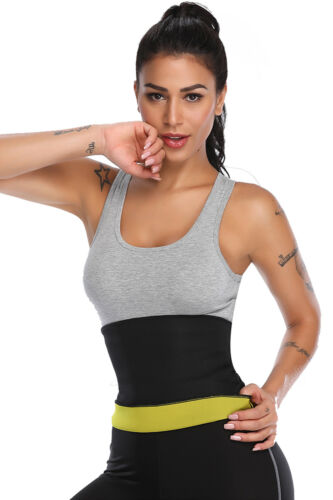 Hot Thermo Sweat Shaper Slimming Sauna Waist Cincher Girdle for Weight Loss US