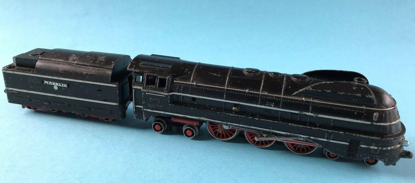 Märklin Lok mit Tender SK 800 Dampflokomotive Spur 00 H0 Model Eisenbahn 1950