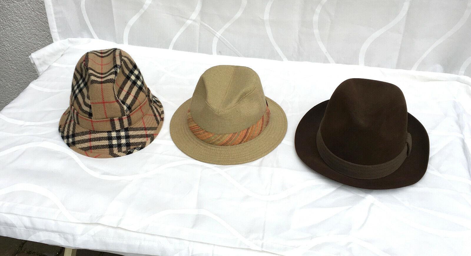 3 x herrenhut, Elegant, well-groomed Mens Hats, Mayser, hückel and Wigens, Size 56
