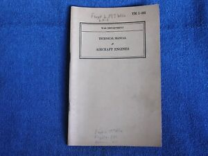 Details about WWII 1940 War Dept Air Corps Technical Manual TM  1-405-Aircraft Engines/81 Pages