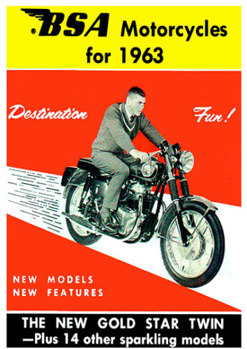BSA Motorcycles Poster