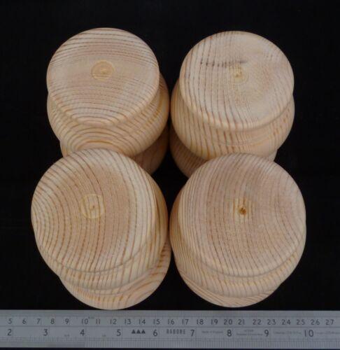 Große hölzerne Kiefer geformt Kugelfüße 83 x 56mm Möbel Fuß wählen Sie Menge