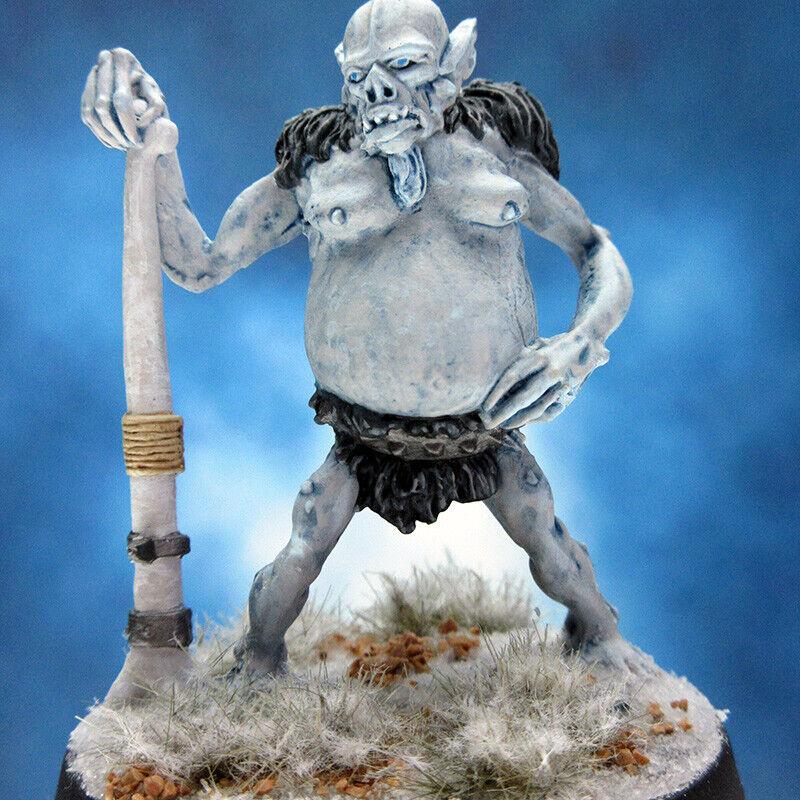 Målad RAFM Miniatyrs Ice Troll Warrior