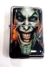 Joker Smile Windproof Refillable Flip Top Oil Lighter