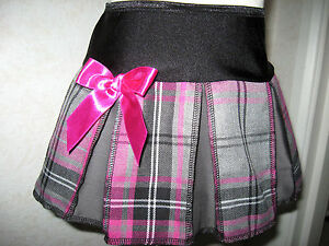 NEW Black White Pink Grey Tartan Check pleated Mini Skirt Party Goth Rock Gift