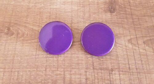 Boucle d/'oreille  à clips vintage en plastique violet ancien stock