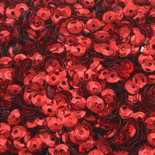 2400 lentejuelas Ø 3mm rojo jadeará en blíster para ropa y joyas pai5