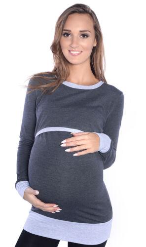 2 in 1 Stillshirt Umstands Shirt Top Bluse Stilltop Stillbluse Umstandsmode 9048