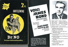 IAN FLEMING JAMES BOND 07 CONTRE DR. NO + MARQUE PAGES + PHOTOS + FICHE IDENTITÉ